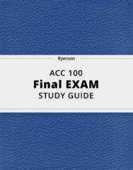 ACC 100- Final Exam Guide - Comprehensive Notes for the exam ( 35 pages long!)