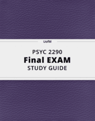PSYC 2290- Final Exam Guide - Comprehensive Notes for the exam ( 85 pages long!)