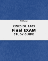 KINESIOL 1A03- Final Exam Guide - Comprehensive Notes for the exam ( 173 pages long!)