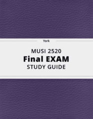 MUSI 2520- Final Exam Guide - Comprehensive Notes for the exam ( 49 pages long!)