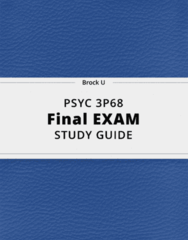 PSYC 3P68- Final Exam Guide - Comprehensive Notes for the exam ( 44 pages long!)