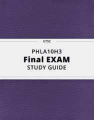 PHLA10H3- Final Exam Guide - Comprehensive Notes for the exam ( 31 pages long!)