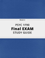 PSYC 1F90- Final Exam Guide - Comprehensive Notes for the exam ( 497 pages long!)