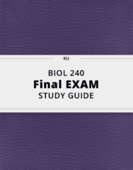 BIOL 240- Final Exam Guide - Comprehensive Notes for the exam ( 37 pages long!)