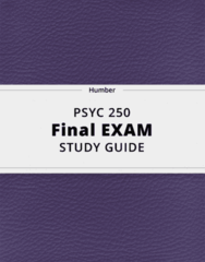 PSYC 250- Final Exam Guide - Comprehensive Notes for the exam ( 47 pages long!)