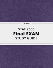 STAT 2606- Final Exam Guide - Comprehensive Notes for the exam ( 36 pages long!)