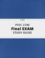 PSYC 2740- Final Exam Guide - Comprehensive Notes for the exam ( 26 pages long!)