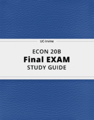 ECON 20B- Final Exam Guide - Comprehensive Notes for the exam ( 26 pages long!)