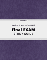 Health Sciences 3040A/B- Final Exam Guide - Comprehensive Notes for the exam ( 31 pages long!)