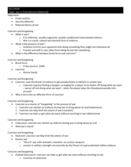 POL 13000 Study Guide - Midterm Guide: Korean War, Security Dilemma, Power Politics