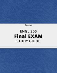 ENGL 200- Final Exam Guide - Comprehensive Notes for the exam ( 88 pages long!)