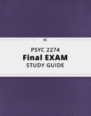 PSYC 2274- Final Exam Guide - Comprehensive Notes for the exam ( 105 pages long!)