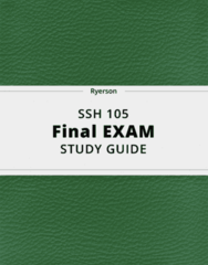 SSH 105- Final Exam Guide - Comprehensive Notes for the exam ( 46 pages long!)