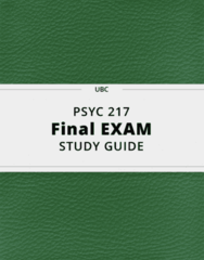 PSYC 217- Final Exam Guide - Comprehensive Notes for the exam ( 59 pages long!)