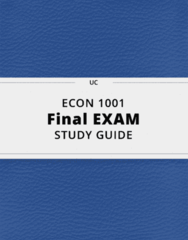 ECON 1001- Final Exam Guide - Comprehensive Notes for the exam ( 205 pages long!)