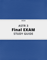 ASTR 3- Final Exam Guide - Comprehensive Notes for the exam ( 86 pages long!)