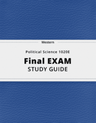 Political Science 1020E- Final Exam Guide - Comprehensive Notes for the exam ( 73 pages long!)