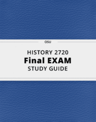 HISTORY 2720- Final Exam Guide - Comprehensive Notes for the exam ( 43 pages long!)