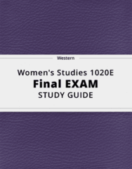 Women's Studies 1020E- Final Exam Guide - Comprehensive Notes for the exam ( 23 pages long!)
