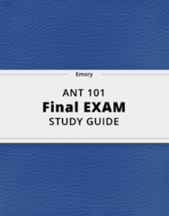 ANT 101- Final Exam Guide - Comprehensive Notes for the exam ( 28 pages long!)