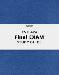 ENH 424- Final Exam Guide - Comprehensive Notes for the exam ( 37 pages long!)