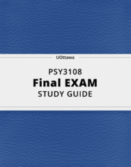 PSY3108- Final Exam Guide - Comprehensive Notes for the exam ( 30 pages long!)