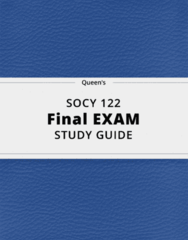 SOCY 122- Final Exam Guide - Comprehensive Notes for the exam ( 68 pages long!)