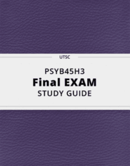 PSYB45H3- Final Exam Guide - Comprehensive Notes for the exam ( 144 pages long!)