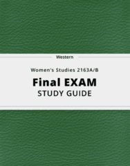 Women's Studies 2163A/B- Final Exam Guide - Comprehensive Notes for the exam ( 87 pages long!)