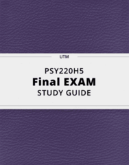 PSY220H5- Final Exam Guide - Comprehensive Notes for the exam ( 42 pages long!)