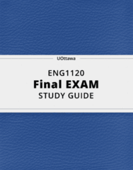 ENG1120- Final Exam Guide - Comprehensive Notes for the exam ( 27 pages long!)