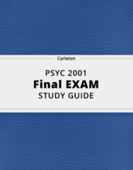 PSYC 2001- Final Exam Guide - Comprehensive Notes for the exam ( 37 pages long!)