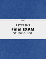 PSYC12H3- Final Exam Guide - Comprehensive Notes for the exam ( 93 pages long!)