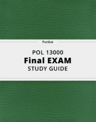 POL 13000- Final Exam Guide - Comprehensive Notes for the exam ( 59 pages long!)
