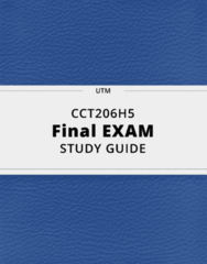 CCT206H5- Final Exam Guide - Comprehensive Notes for the exam ( 46 pages long!)