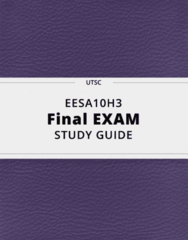 EESA10H3- Final Exam Guide - Comprehensive Notes for the exam ( 62 pages long!)