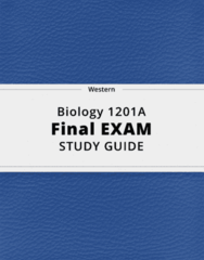 Biology 1201A- Final Exam Guide - Comprehensive Notes for the exam ( 179 pages long!)