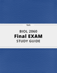 BIOL 2060- Final Exam Guide - Comprehensive Notes for the exam ( 114 pages long!)
