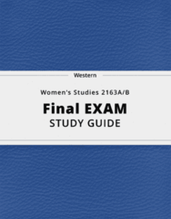 Women's Studies 2163A/B- Final Exam Guide - Comprehensive Notes for the exam ( 50 pages long!)