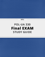 POL-UA 330- Final Exam Guide - Comprehensive Notes for the exam ( 42 pages long!)