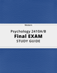 Psychology 2410A/B- Final Exam Guide - Comprehensive Notes for the exam ( 35 pages long!)