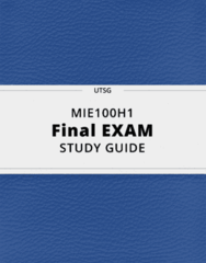 MIE100H1- Final Exam Guide - Comprehensive Notes for the exam ( 163 pages long!)