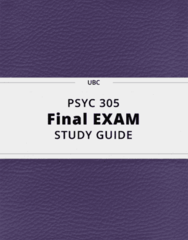 PSYC 305- Final Exam Guide - Comprehensive Notes for the exam ( 89 pages long!)