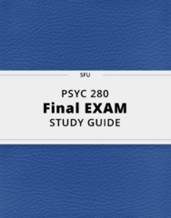 PSYC 280- Final Exam Guide - Comprehensive Notes for the exam ( 75 pages long!)
