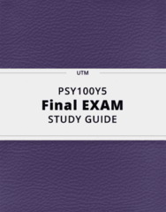 PSY100Y5- Final Exam Guide - Comprehensive Notes for the exam ( 282 pages long!)