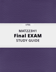MAT223H1- Final Exam Guide - Comprehensive Notes for the exam ( 77 pages long!)