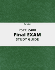PSYC 2400- Final Exam Guide - Comprehensive Notes for the exam ( 115 pages long!)