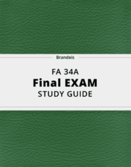 FA 34A- Final Exam Guide - Comprehensive Notes for the exam ( 40 pages long!)