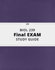 BIOL 239- Final Exam Guide - Comprehensive Notes for the exam ( 48 pages long!)