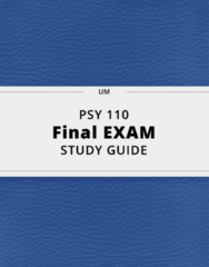 PSY 110- Final Exam Guide - Comprehensive Notes for the exam ( 49 pages long!)